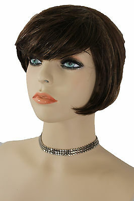 Women Pewter Fashion Jewelry Mesh Metal Sexy Skinny Choker Necklace Blue Gothic