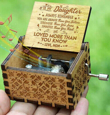 Engraved Music Box - You are My Sunshine, Gift For Daughter From Mom