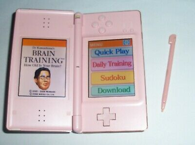 Nintendo DS Lite Coral PINK Handheld System  with BRAIN TRAINING