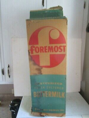 """Vintage Advertising Foremost Dairy Store Display Sign Buttermilk Carton 28"""""""