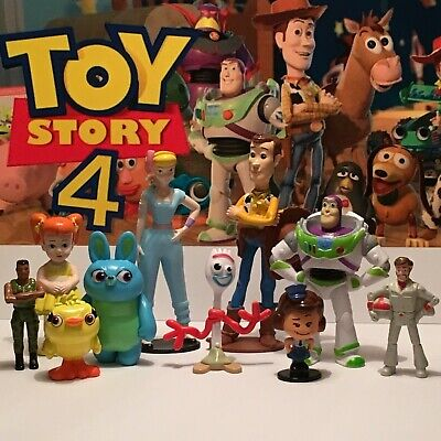 Disney Toy Story 4 Movie Figure Set of 10 New Character FORKY Gabby Bo Peep Buzz