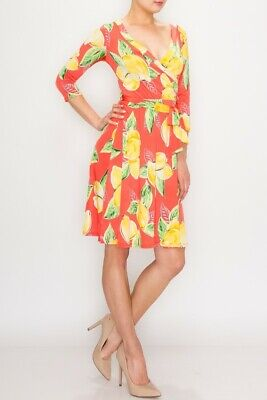 Red and Blue NEW Janette Floral Print  Knee Length Wrap Maxi Dress