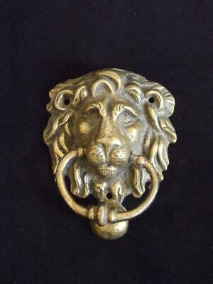"Antique Brass Lion Head Door Knocker 4.5"" x 3.5"" Magnet Doesn't Stick"