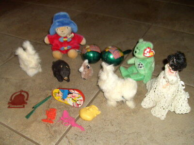 Vintage Toy Collection~Wind Up~Paddington Bear~Ty Beanie Baby~Maracas Ect