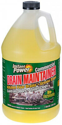 Drain Cleaner Liquid Commercial Maintainer Kitchen Restroom Sink Grease Traps
