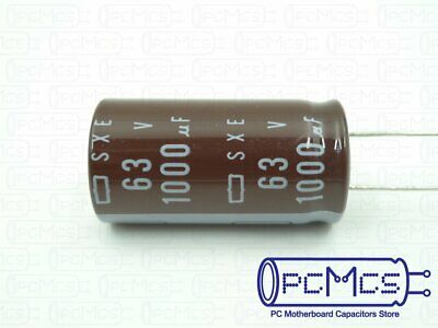 3 Pcs of Nippon ChemiCon NCC SXE Series 63V 1000UF Japan Low impedance Capacitor