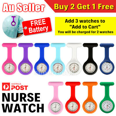 New Silicone Medical Nurse Brooch Nursing Nurses Pendant Tunic Pocket Fob Watch