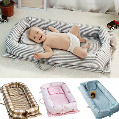 Baby Sleep Nest Cushion Mattress Bed Breathable Cushion with Pillow Newborn Bed