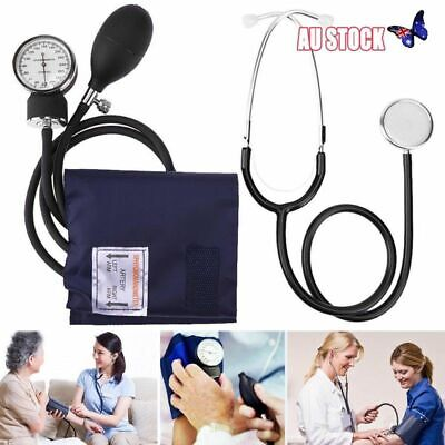 Aneroid Sphygmomanometer Arm Blood pressure Monitor Stethoscope Cuff Dial Kit