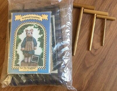 "INSPIRED CREATIONS ""Love Thy Neighbour"" 28"" Teddy Bear Making Kit Brand New"