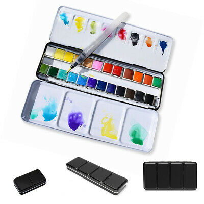 Artist Watercolor Paint Palette Set Portable For Travel Adjustable Metal Card