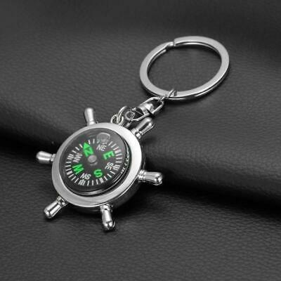 Unisex Fashion Compass Metal Car Keyring Keychain Keyring Chain Ring Keyfob Gift