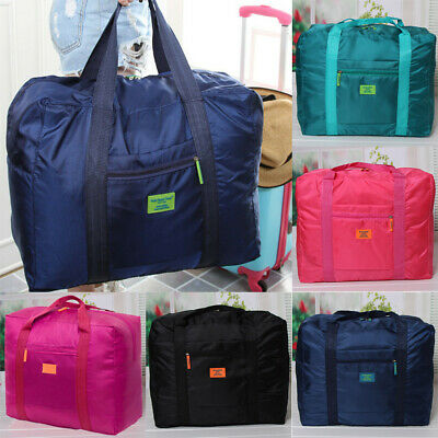 Portable Womens Men Foldable Travel Storage Luggage Big Hand Shoulder Duffle Bag