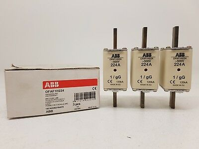 Abb OFAF1H224 1SCA022627R4570 Hrc Fuse Link Size NH1 Gg Price for 1 Box 3 Fuses