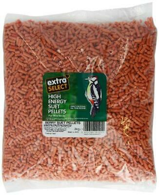 (TG. 3 kg) Extra Select High Energy Suet Pellets Berry 3 kg Refill - NUOVO