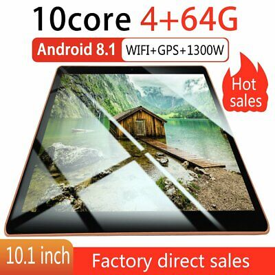"""10.1"""" 4GB+64GB Tablet PC bluetooth Android 8.1 Octa 10 Core WIFI 2 SIM GPS Hot!!"""
