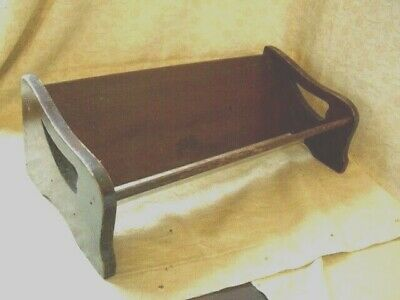 Antique Wooden Table, Desk Book Trough Shelf . Free Standing