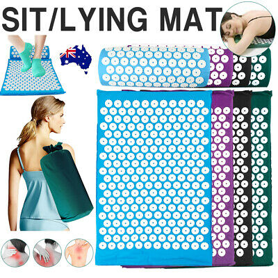Acupressure Massage Mat with Pillow for Stress Pain Relief Body Relax Lying Sit