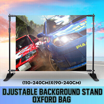 Adjustable Background Banner Support Stand Photo Backdrop Photography Kit Case