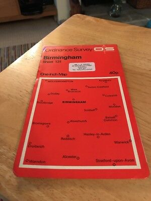 Ordnance Survey One Inch BIRMINGHAM Map 131
