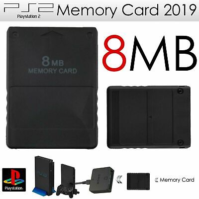 8MB PS2 PlayStation 2 Slim Game Console For Memory Card Black UK Seller