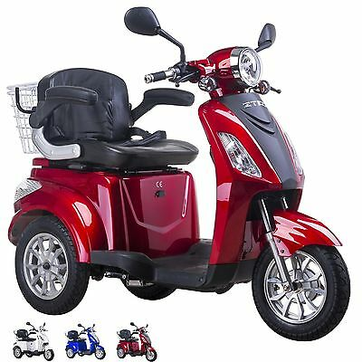 NEW 3 Wheeled Red 900W ZT15 Electric Mobility Scooter Adult FREE DELIVERY + GIFT