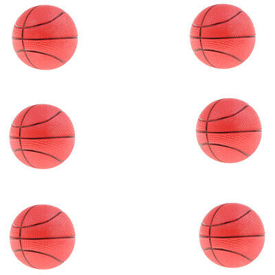 6 Pieces Mini Basketball Toy Bouncy Ball for Beach Sports Game Supplies Red