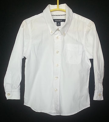 Gant White Long Sleeeve Baby Boy Shirt Size:18months/86cm. 100% Cotton