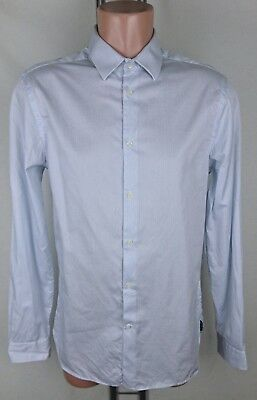 Men/'s Dress Shirt with stripe Accent Collar /& Cuffs by George/'s AH609