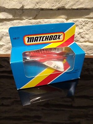 Vintage Matchbox Blue Box 1981 MB 27 Swing Wing Jet