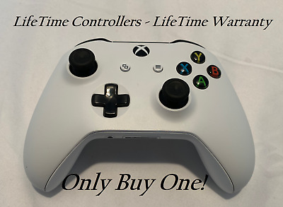 XBOX ONE S Wireless Controller Bluetooth W/ 3.5 Jack - White - LifeTime Warranty