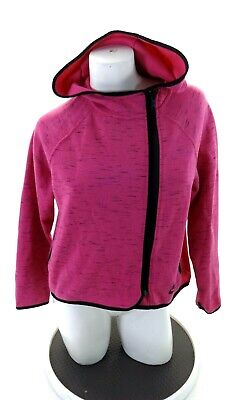 Nike Big Girls Pink & Black Zip Front Hoodie Jacket Size Xl