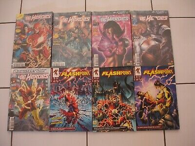 Lot Dc Heroes + Flashpoint Serie Complete (Flash Batman Justice League)