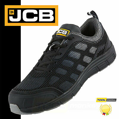 JCB Work Trainer - Cagelow Safety Shoes Black & Grey (Sizes 7-11) Men's