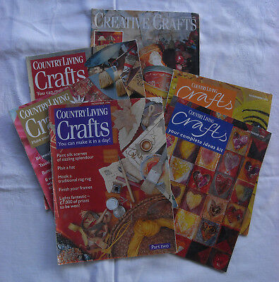 Lot 6 vintage 1990s COUNTRY LIVING magazine Craft Supplements 1993 1994 1995
