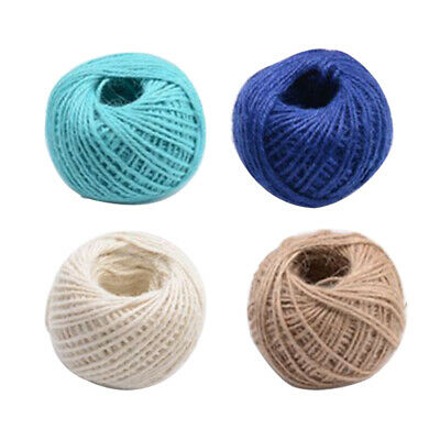 4x Sturdy Jute Twine 50M 2 Ply Natural Arts Crafts Jute Rope Packing String