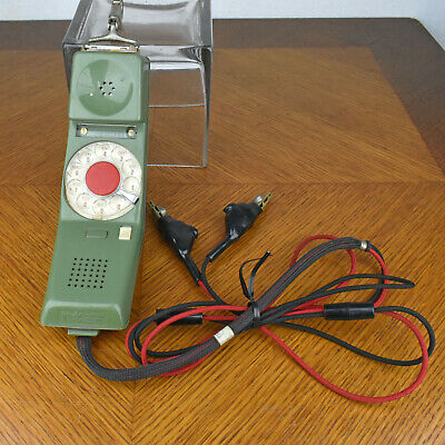 Vintage Green Northern Telecom Clip-on Lineman Test Rotary Phone Handset
