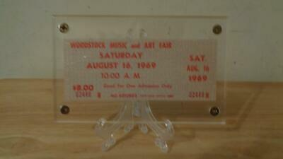Authentic 1969 Woodstock Music & Art Festival Saturday $8 Concert Day Ticket