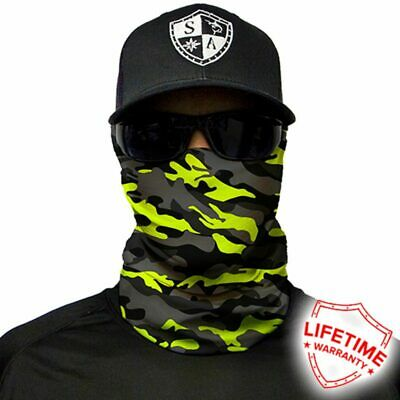SA COMPANY Face Shield Mask MULTI-USE TUBULAR BANDANA Surge Military Camo