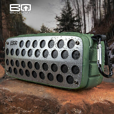 BugOut Water Resistant Wireless Bluetooth Speaker USB Rechargable Radio AUX SD