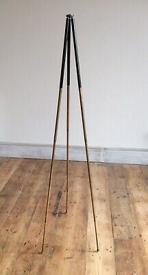 Vintage ART DECO 1,3mt Brass Metal Extendable Camera Tripod,Lamp Stand Upcycle,