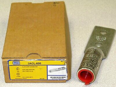 ILSCO 2ACL-600 600 kcmil Aluminum Compression Lug, Bolt Size 1/2""