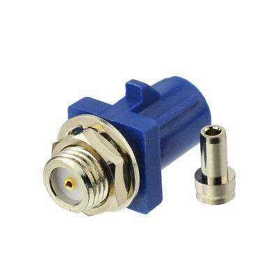 Fakra solder male bulkhead Connector Blue 1.13 for GPS telematics or navigation