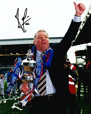 Ally McCoist Signed 10X8 Photo RANGERS Legend AFTAL COA (1198)