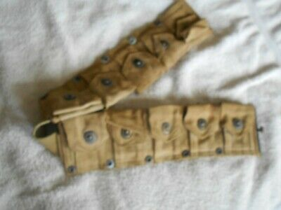 WW2 USMC marked M-1 garand 1903A3 cartridge belt 10 pocket M-1923 model of 1923