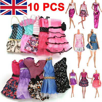 10 Pcs Dresses for Barbie Doll Fashion Party Girl Dresses Clothes Gown Toy Gift!