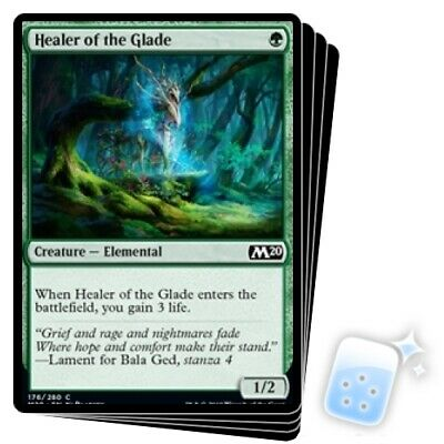 Healer Of The Glade X4 M/NM Magic: The Gathering MTG Core Set 2020