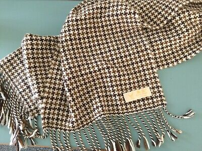 Pure Cashmere Scarf - King Deer Houndstooth Check