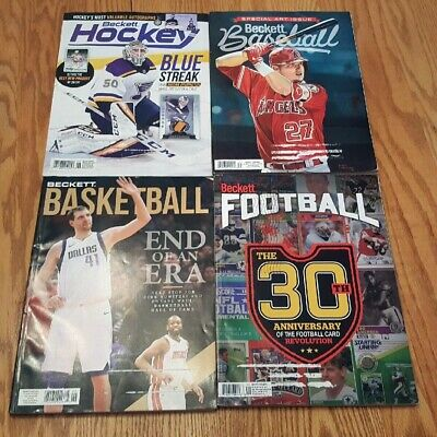 Four June 2019 Beckett Card Price Guides Baseball Basketball Football Hockey