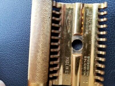 ANTIQUE VINTAGE GILLETTE SAFETY RAZOR GOLD PLATEDMade in USA. NWOT